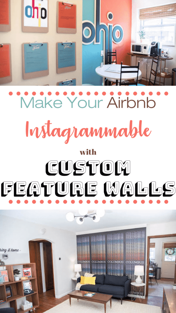 A Columbus Ohio hometown pride Airbnb that has a feature wall in each room!