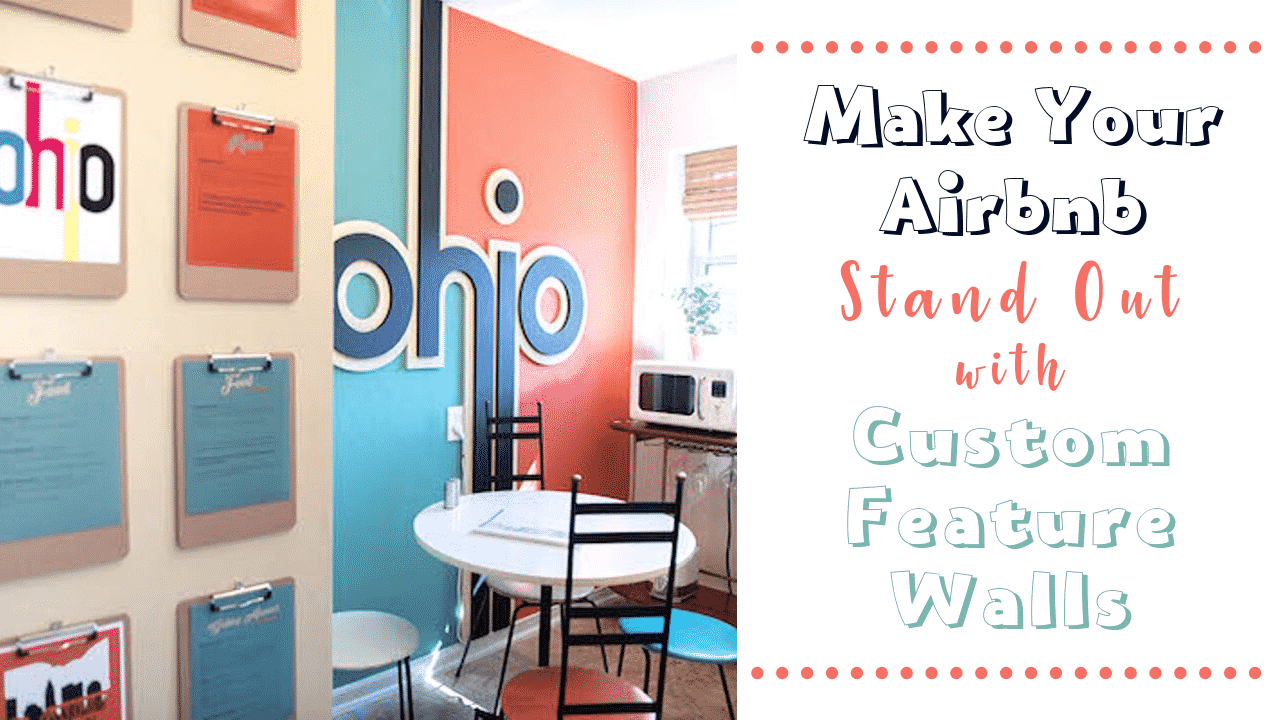 Feature walls that show hometown pride in this Columbus Ohio Airbnb