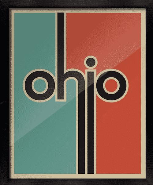Ohio vintage print