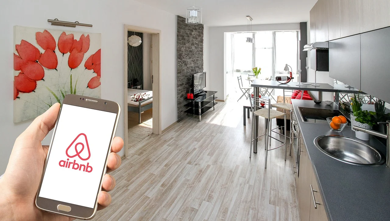 airbnb app in the apartment