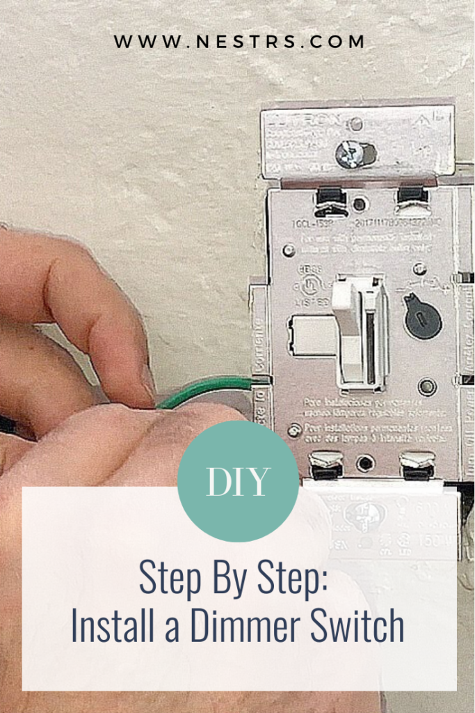step by step guide on how to install a dimmer switch