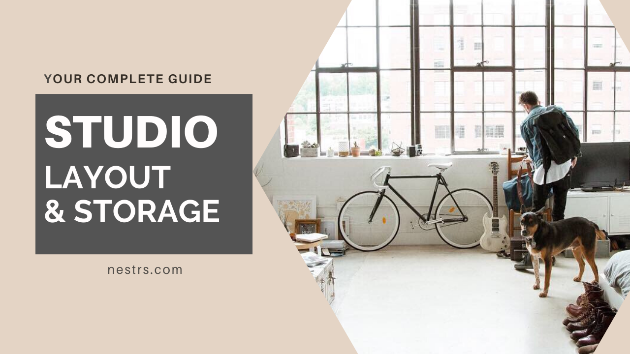 studio layout and storage