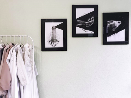 picture frames with clothes