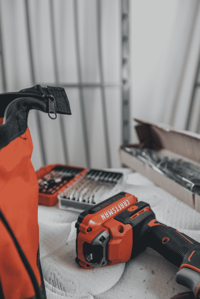 construction tools and drills