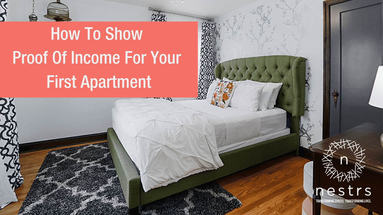 how to show proof of income for your first apartment
