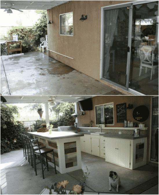 DIY Outdoor Kitchenette