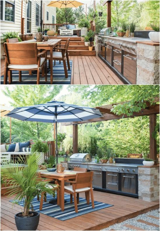 Outdoor Deck Kitchen