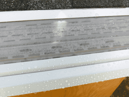 Mastershield micromesh on a gutter.