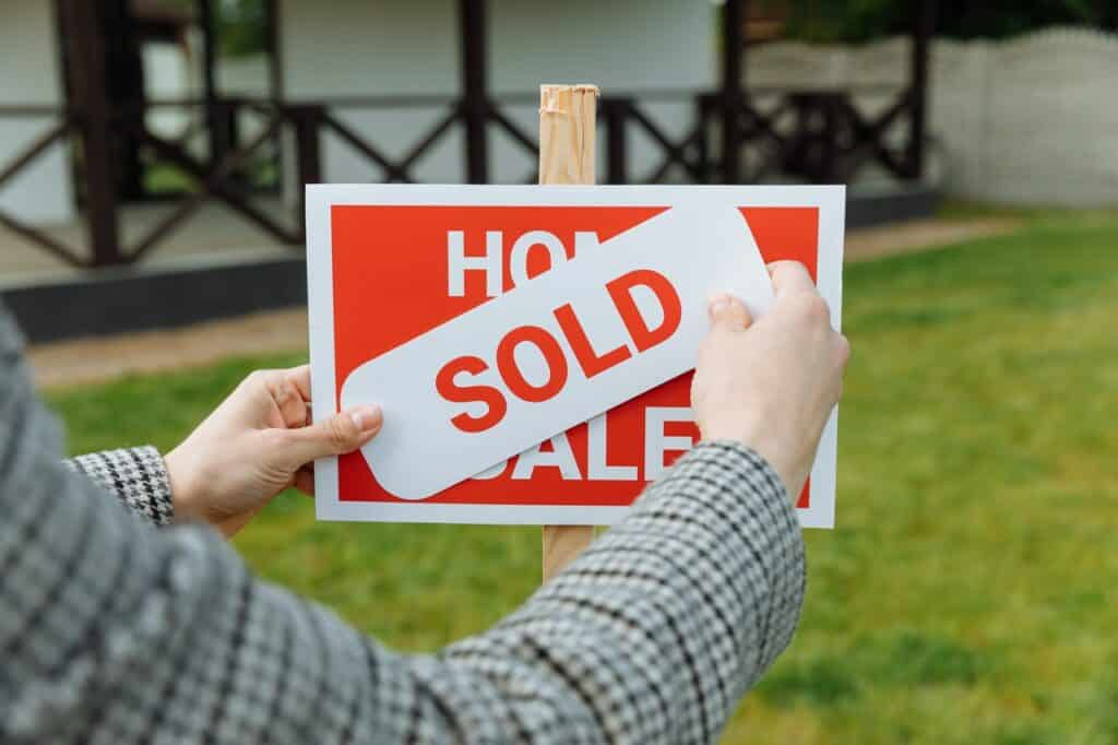 house is sold sign